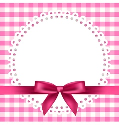 Chequered napkin ribbon background vector