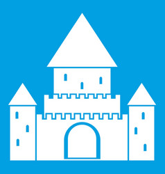 Chillon castle switzerland icon white vector