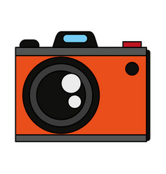 Colorful graphic analog camera with flash vector