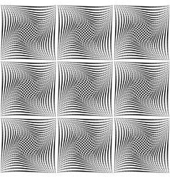 Design seamless monochrome square background vector