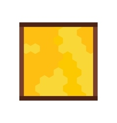 Frame with honecombs flat icon vector image