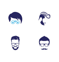 Geek logo template vector
