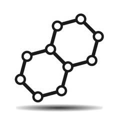 hexagonal atom biology vector image