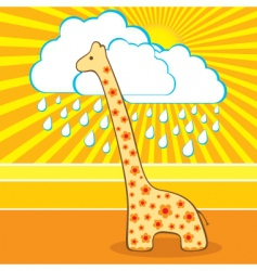 illustration of the cute giraffe vector image vector image
