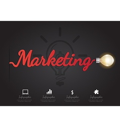 Infographic for marketing concept vector