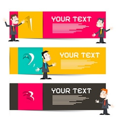 Infographics Template with Three Paper Labels and vector image