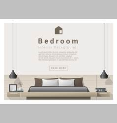 Interior design bedroom background 1 vector