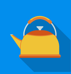 kettle icon in flate style isolated on white vector image vector image