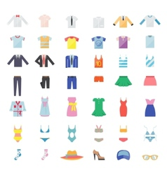 Large set of clothing icons vector