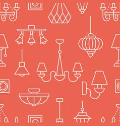 Light fixture lamps seamless pattern vector