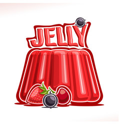logo for strawberry jelly vector image