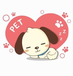 lovely dog sleeping vector image
