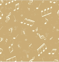 pattern with music symbols vector image vector image