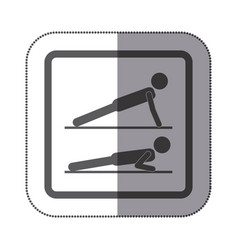 Person doing planks icon vector