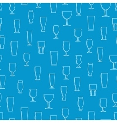 Seamless pattern with beer glasses vector image vector image