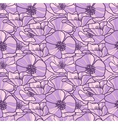 seamless pattern with poppy vector image