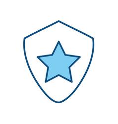 star on shield symbol vector image