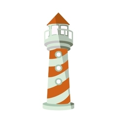 striped lighthouse icon vector image