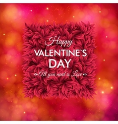 Tender floral red Valentines Day card design vector image vector image