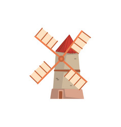 traditional european windmill medieval building vector image vector image