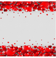 valentines day border isolated transparent vector image vector image