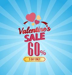 valentines day sale 60 Percent typographic vector image vector image