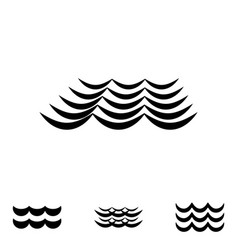 wave black and white icons vector image