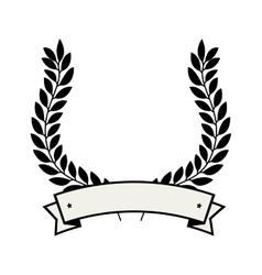 Wreath crown emblem icon vector