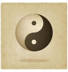 Yin yang old background vector image