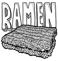 Ramen vector image