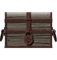 old rusty chest vector image
