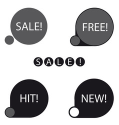 Stickers sale free new hit label vector