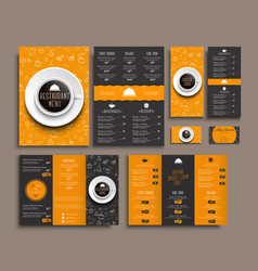 Template a4 menu folding brochures and flyers vector