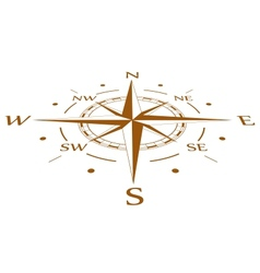 Brown compass compressed vector image