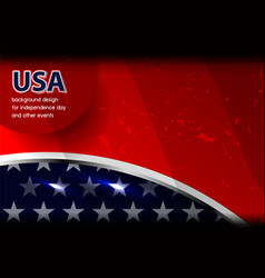 Usa background design vector