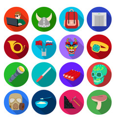 Forest leisure hobby and other web icon in flat vector