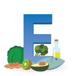 Foods rich in vitamin e vector