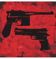 Vintage grunge guns graphic design vector
