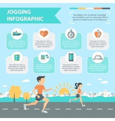 Jogging infographics set vector