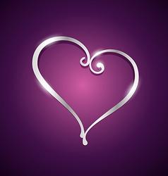beautiful heart shape vector image