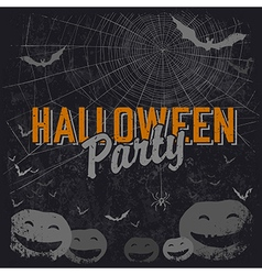 Halloween party flyer vector