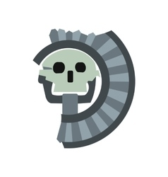 Skull the god of death of aztecs icon flat style vector