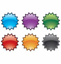 abstract colorful burst icons vector image vector image