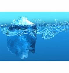 Abstract iceberg vector
