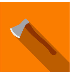 axe icon flate single weapon icon from the big vector image vector image