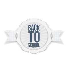 Back to school holiday banner vector