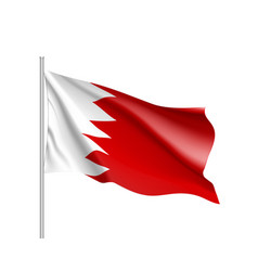 bahrain national flag vector image vector image