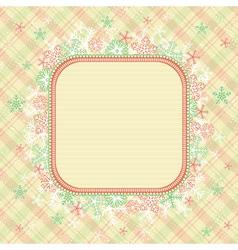 beige christmas background vector image