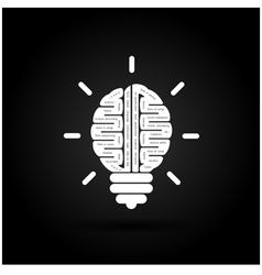 Brain Icon Logo Abstract Icon Logo Science Icon vector image vector image