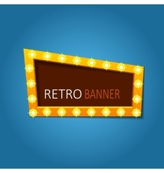 bright retro banners with light effects vector image vector image